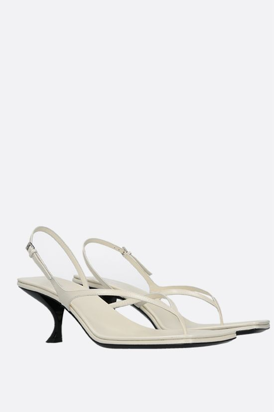 THE ROW: Constance smooth leather thong sandals Color White_2