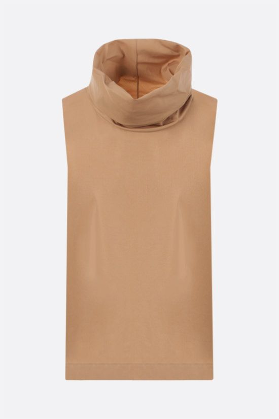 THE ROW: Galya cotton sleeveless top Color Neutral_1