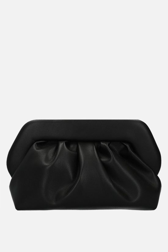 THEMOIRè: Bios soft faux leather clutch Color Black_1