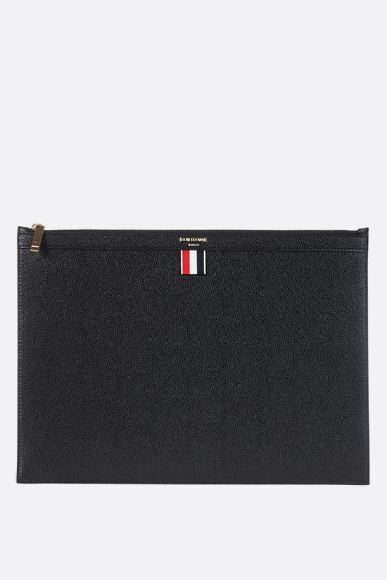 THOM BROWNE: Pebble Grain document holder Color Black_1