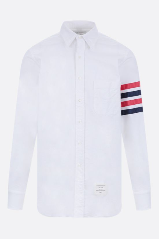 THOM BROWNE: 4-bar-detailed cotton shirt Color White_1