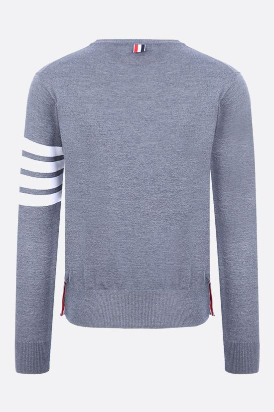 THOM BROWNE: 4-bar detailed cotton sweatshirt Color Grey_2