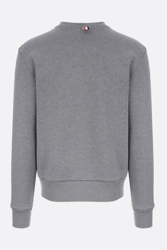 THOM BROWNE: tricolour-detailed cotton sweatshirt Color Grey_2