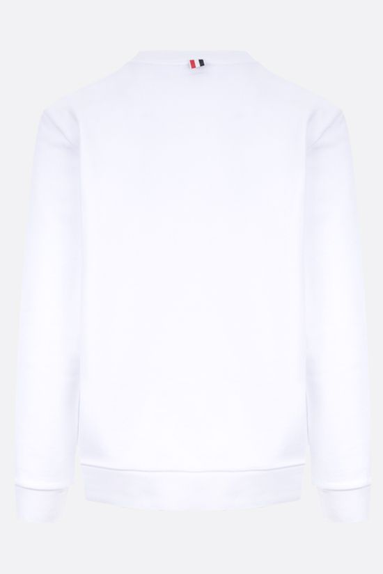 THOM BROWNE: tricolour-detailed cotton sweatshirt Color White_2