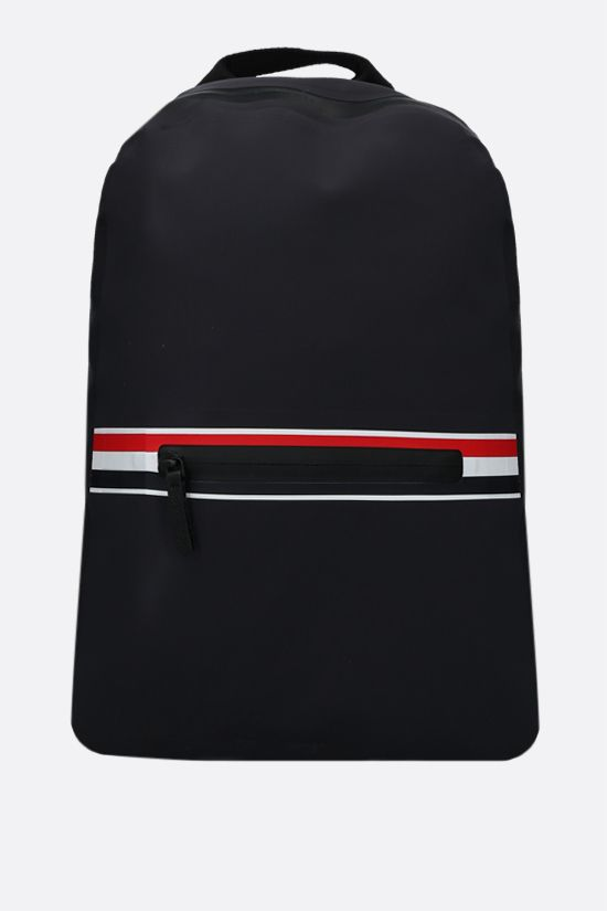 THOM BROWNE: tricolour-detailed waterproof nylon backpack Color Grey_1