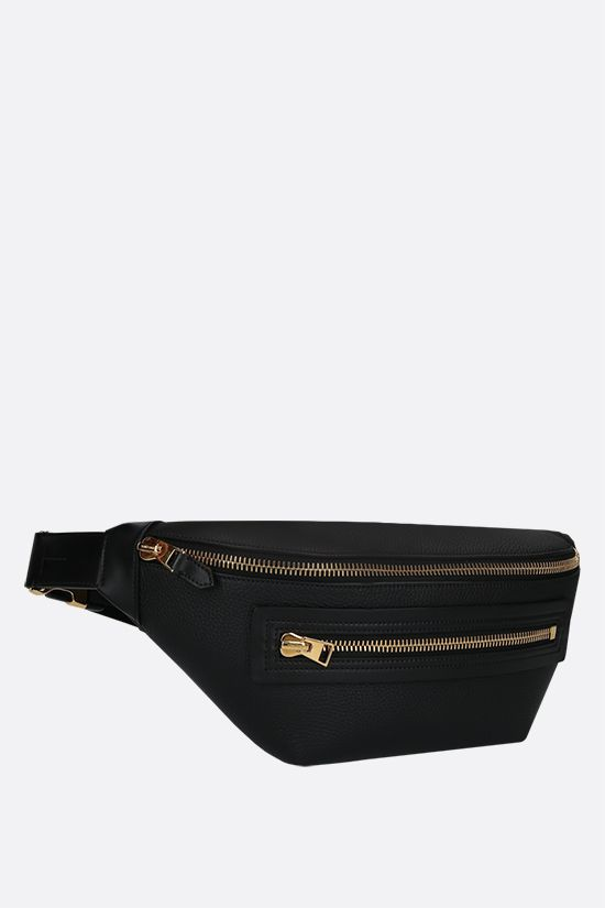 TOM FORD: grainy leather belt bag Color Black_2