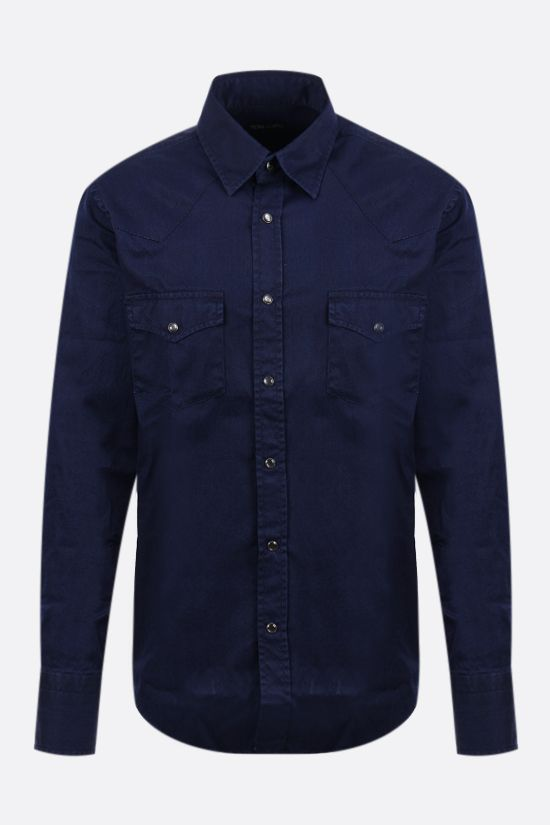TOM FORD: cotton western shirt Color Blue_1