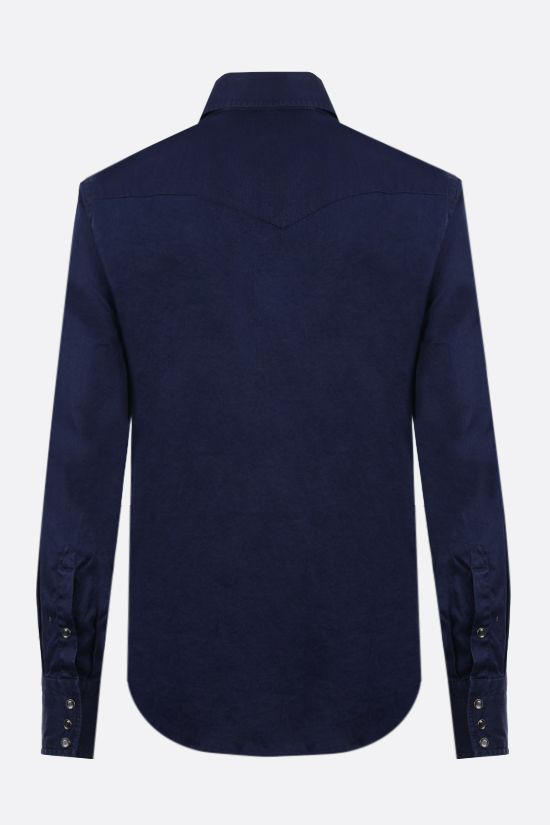 TOM FORD: cotton western shirt Color Blue_2