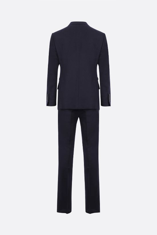 TOM FORD: wool mohair blend two-pieces suit Color Blue_2
