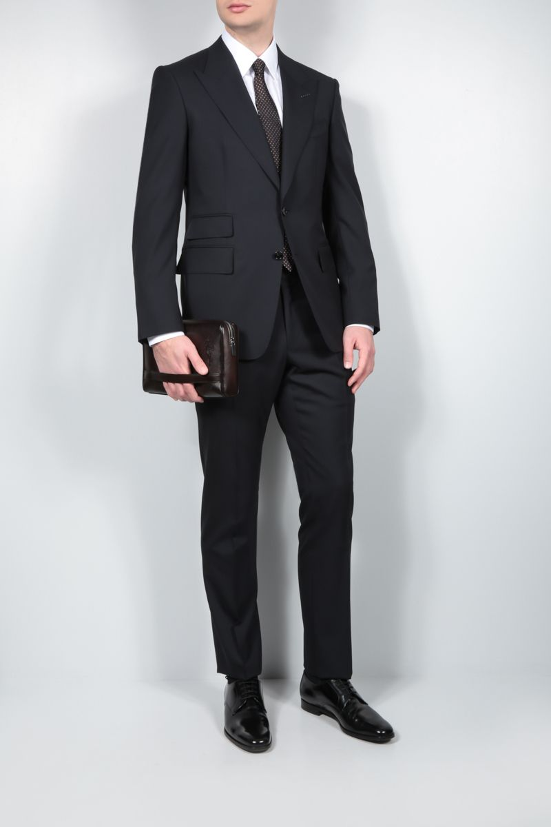 TOM FORD: Shelton wool two-piece suit Color Blue_2