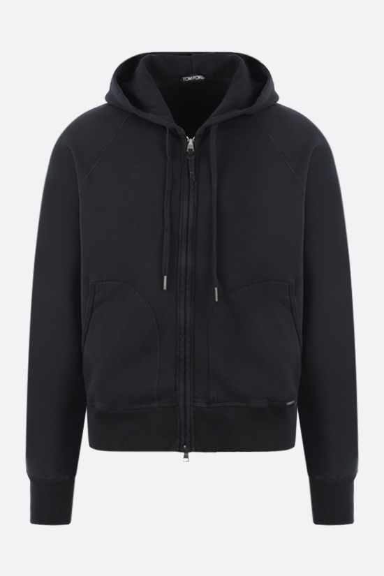 TOM FORD: full-zip cotton hoodie Color Black_1