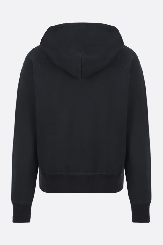 TOM FORD: full-zip cotton hoodie Color Black_2