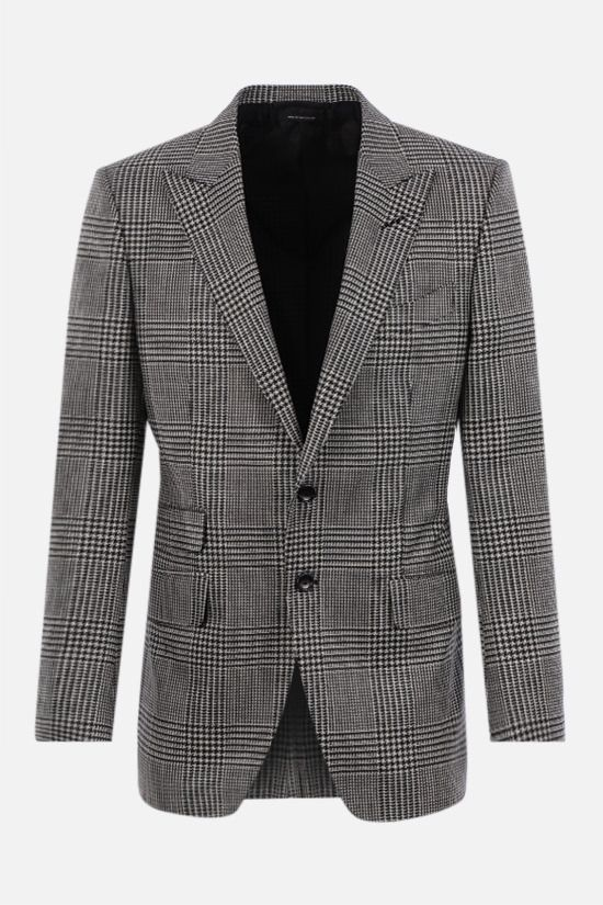 TOM FORD: O'Connor single-breasted wool silk blend jacket Color Black_1