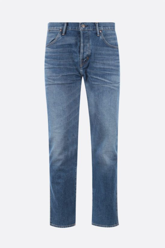 TOM FORD: jeans tapered-fit Colore Blu_1