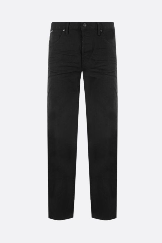 TOM FORD: jeans tapered-fit Colore Nero_1