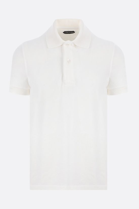 TOM FORD: cotton toweling polo shirt Color White_1