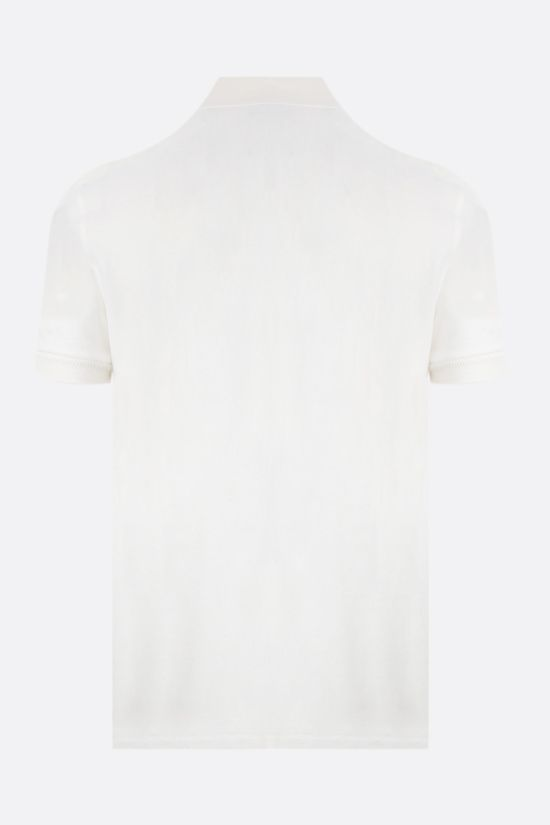 TOM FORD: cotton toweling polo shirt Color White_2