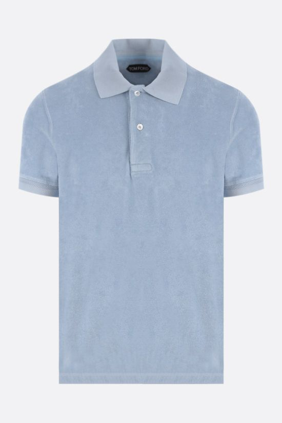 TOM FORD: cotton toweling polo shirt Color Blue_1