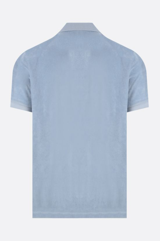 TOM FORD: cotton toweling polo shirt Color Blue_2