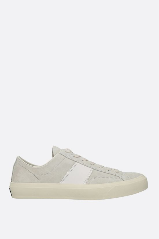 TOM FORD: Cambridge suede sneakers Color White_1