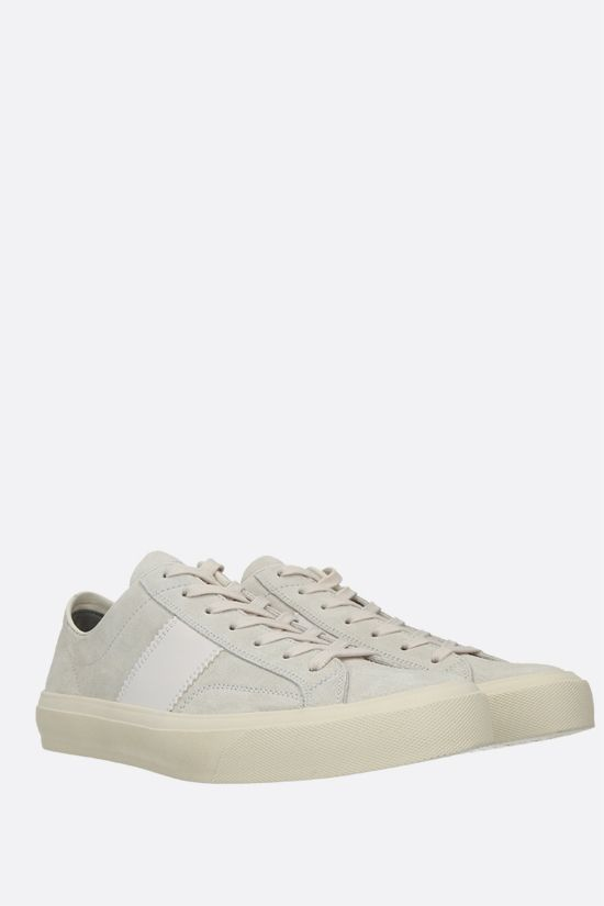 TOM FORD: Cambridge suede sneakers Color White_2