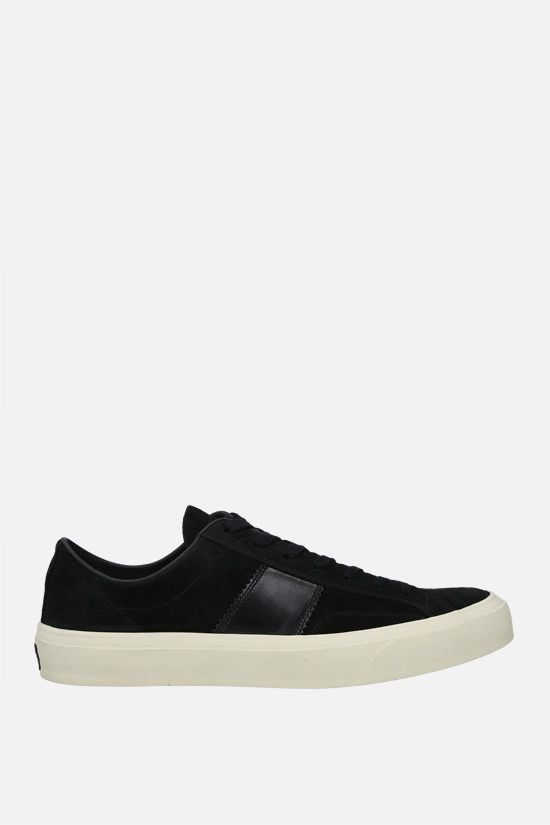TOM FORD: Cambridge suede sneakers Color Black_1