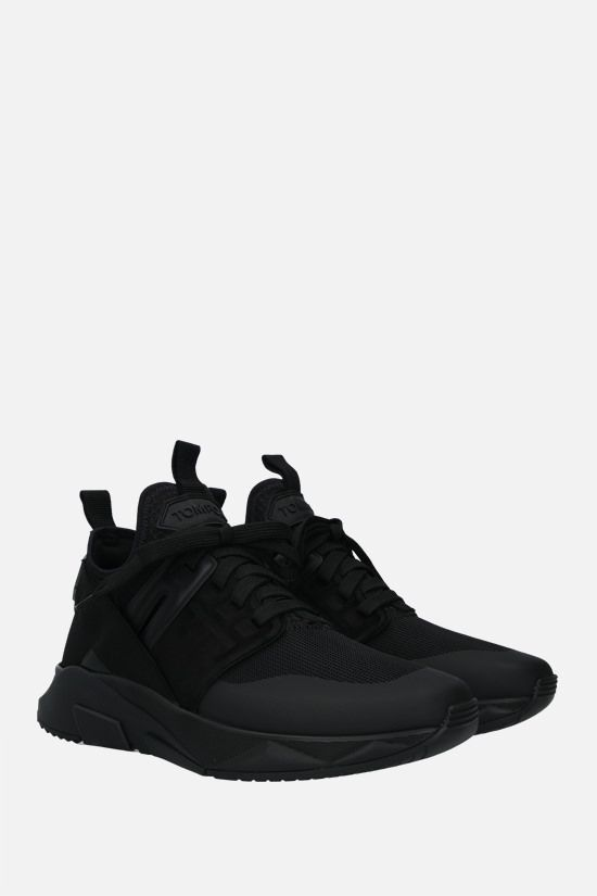 TOM FORD: Jago technical fabric and leather sneakers Color Black_2