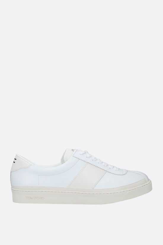 TOM FORD: Bannister smooth leather sneakers Color White_1