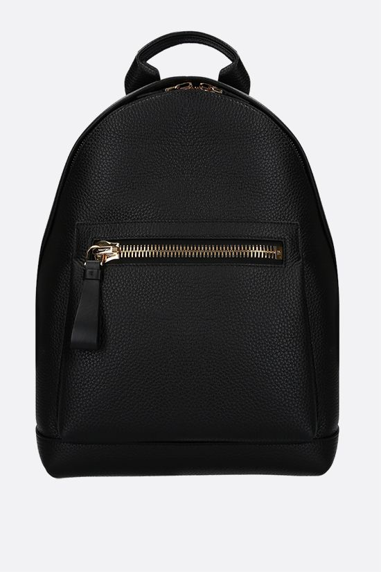 TOM FORD: Buckley medium grainy leather backpack Color Black_1