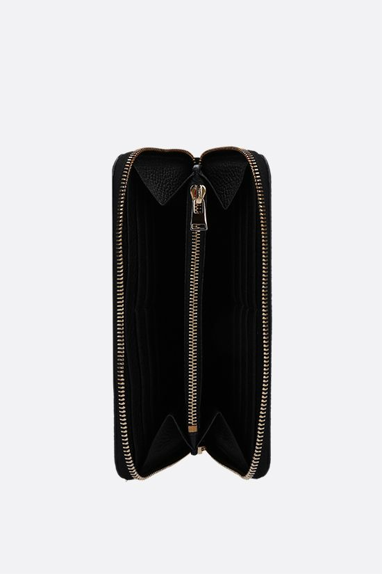 TOM FORD: grainy leather zip-around wallet Color Black_2