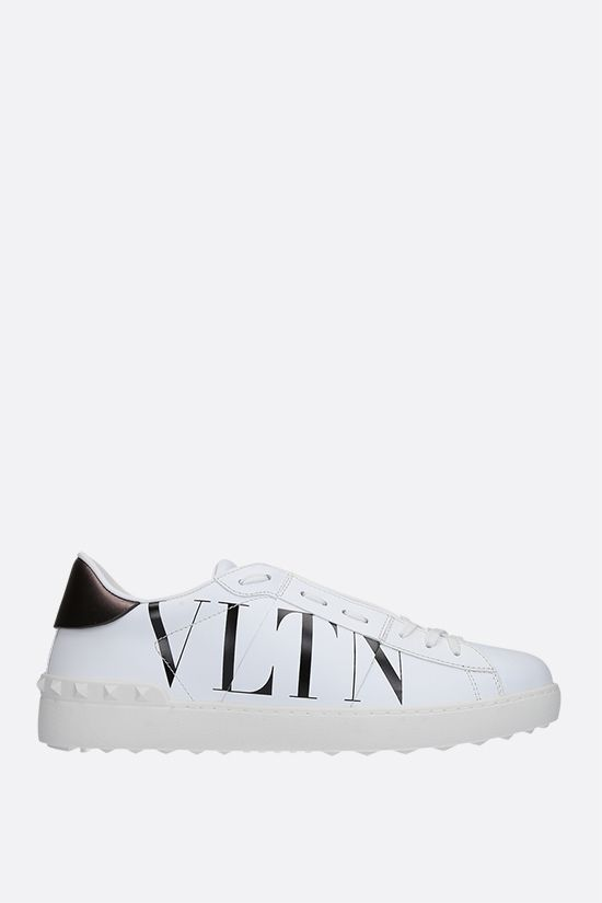 VALENTINO GARAVANI: Open VLTN smooth leather sneakers Color White_1