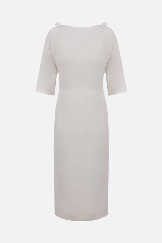 VALENTINO: bow-detailed cady pencil dress Color White_1