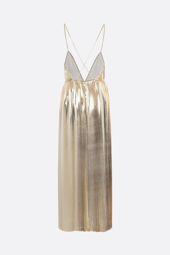 VALENTINO: Technical Georgette pleated dress Color Neutral_2