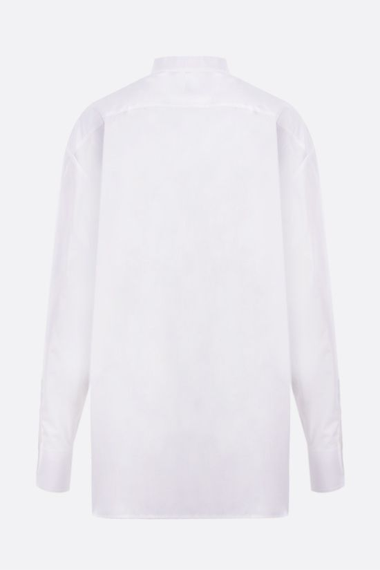 VALENTINO: lace and poplin oversize shirt Color White_2
