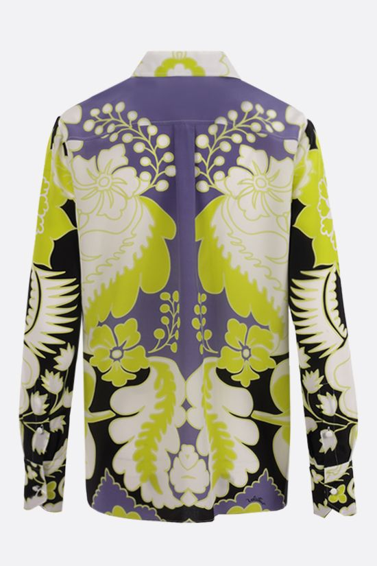 VALENTINO: World Arazzo print silk shirt Color Yellow_2