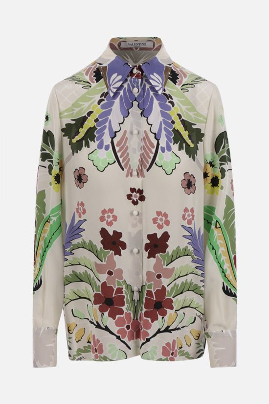 VALENTINO: World Arazzo print silk shirt Color Multicolor_1
