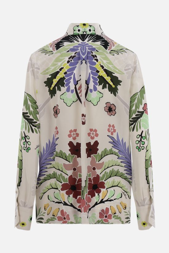 VALENTINO: World Arazzo print silk shirt Color Multicolor_2