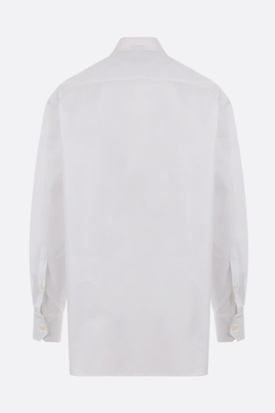 VALENTINO: oversize lace and poplin shirt Color White_2