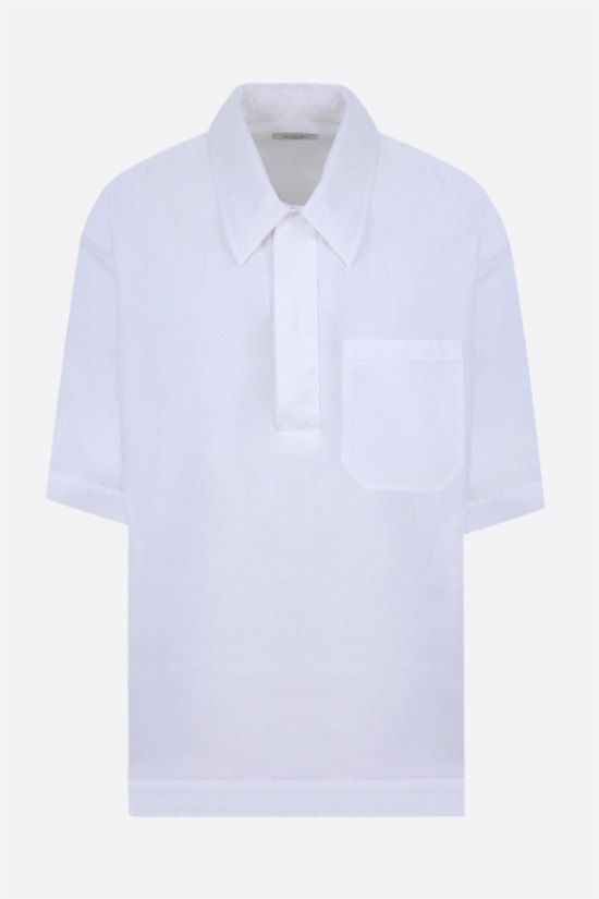 VALENTINO: oversize cotton polo shirt Color White_1