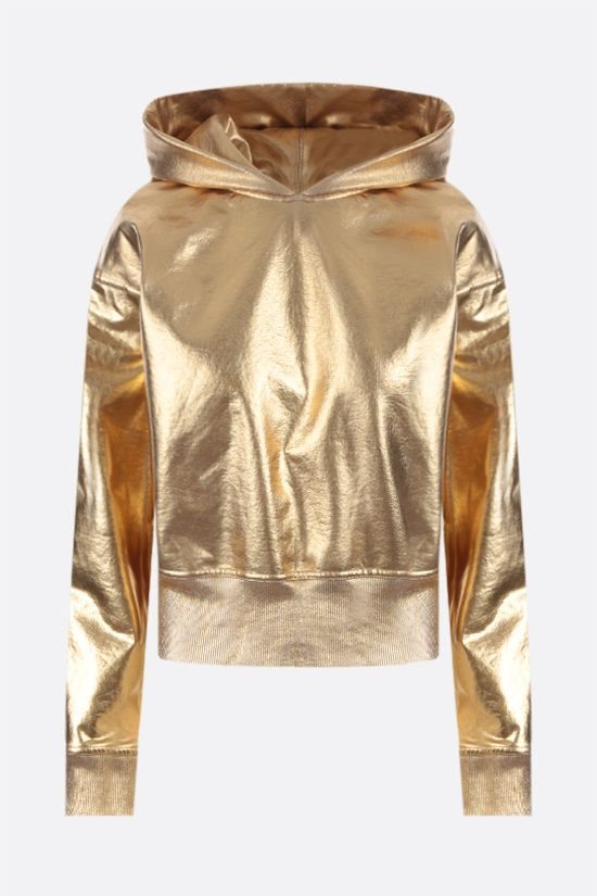 VALENTINO: coated jersey hoodie Color Gold_1