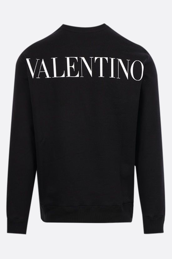 VALENTINO: jersey sweatshirt with lace pocket Color Black_2