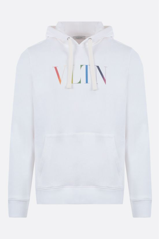 VALENTINO: VLTN Multicolour cotton blend hoodie Color White_1