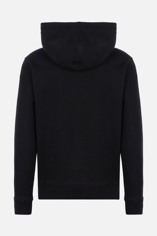 VALENTINO: Valentino print cotton blend hoodie Color Black_2