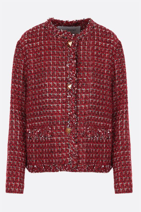 VALENTINO: blazer monopetto in Sensation Lurex Tweed Colore Multicolore_1