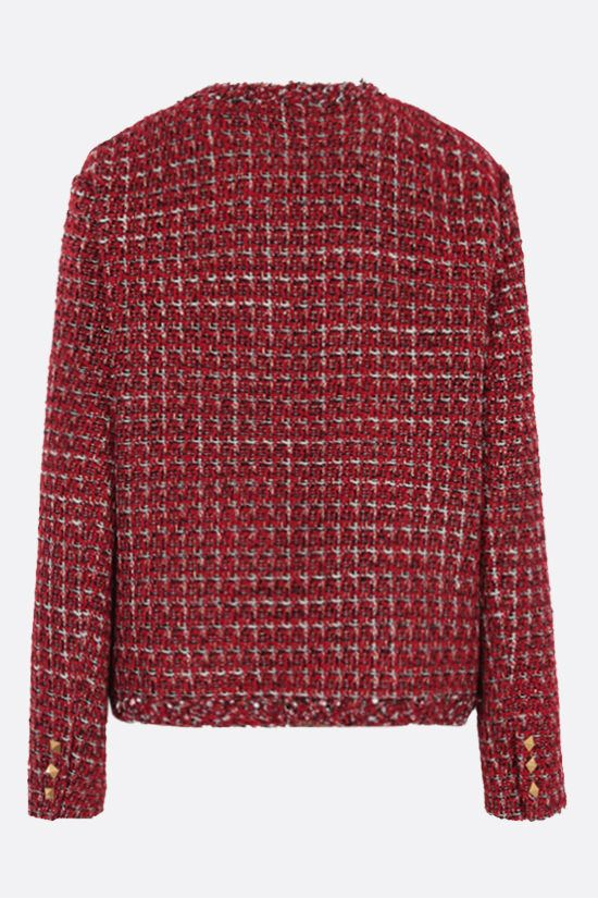 VALENTINO: blazer monopetto in Sensation Lurex Tweed Colore Multicolore_2