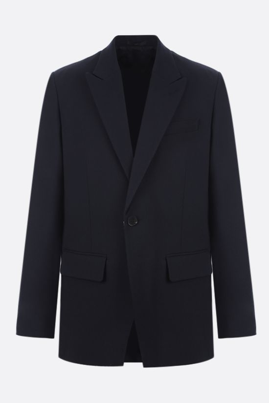 VALENTINO: single-breasted virgin wool jacket Color Blue_1
