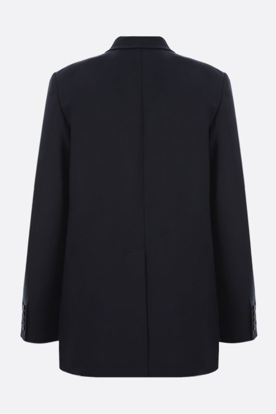 VALENTINO: single-breasted virgin wool jacket Color Blue_2