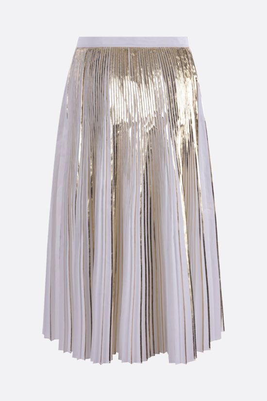 VALENTINO: cotton pleated skirt Color White_2