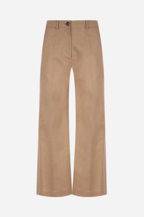VALENTINO: Dry Gabardine wide-leg pants Color Neutral_1