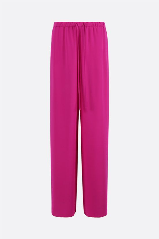 VALENTINO: cady wide-leg pants Color Purple_1